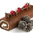 Stock Photo: Christmas Yule Log