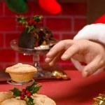 Santa Claus On Christmas Eve — Stock Photo