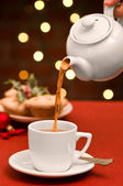 Christmas Teatime — Stock Photo
