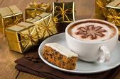 Christmas Coffee Break — Stock Photo