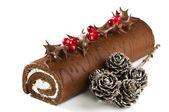 Christmas Yule Log — Stock Photo
