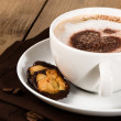 Stock Photo: Cappuccino With Florentines