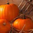 Pumpkins In The Barn — Stock Photo