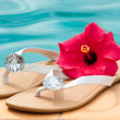 Summer Flip Flops — Stock Photo