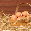 Eggs In The Barn - Stock Photo