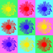 Sunflower Pop Art — Stock Photo