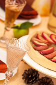Angled Thanksgiving Table Setting — Stock Photo