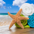 Summer Beach Towels - Stock Photo