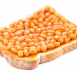 Stock Photo: Baked Beans On Toast