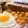 English Breakfast Close Up - Stock Photo