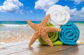 Summer Beach Towels — Stock Photo