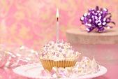 Single Iced Cupcake — Stock Photo