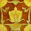 Stock Photo: Art Nouveau Tile