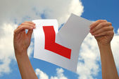 Learner Drivers L Plate — Stock Photo