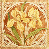 Arts & Crafts Antique Tile — Stock Photo
