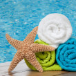 Colourful towels — Stock Photo