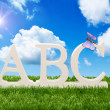 ABC alphabet letters — Foto Stock