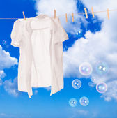 Wash Day Bubbles — Stock Photo
