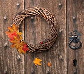 Autumn Wreath — Stock Photo