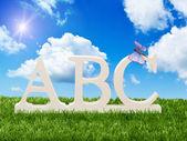 Letras del alfabeto abc — Foto de Stock