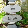 Stock Photo: Live Love Laugh