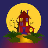 Nocturnal house — Stock Vector