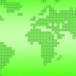 World map green dotted — Stock Photo