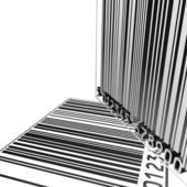 Isolated 3D barcode backgound — Stock Photo