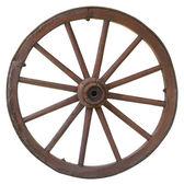 孤立的老式马车的轮子 — 图库照片