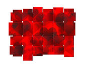 Beautiful red heart tape background — Stock Photo