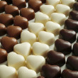 Chocolate hearts — 图库照片