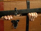 Hiding child — Stock Photo