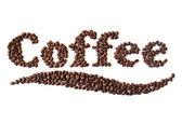 кофе логотип — Стоковое фото