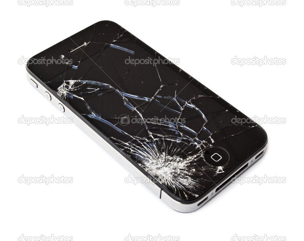 Broken phone similar to iphone — Stock Photo © Mactrunk ...