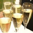 Stock Photo: Champagne on plate