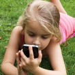 Girl with smartphone - Foto de Stock