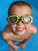 Boy with goggles — Stockfoto