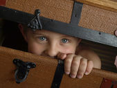 Hiding boy — Stock Photo