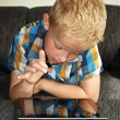 Boy on ipad — Stock Photo #11618246