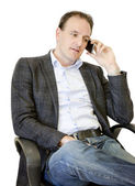 Business man on phone — Stock Photo