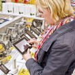 Stock Photo: Shopping for tablet pc