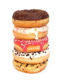 Stacked donuts — Stock Photo