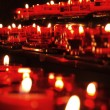 Candles burning in church — Stockfoto