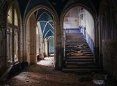 Indoor of a ruine — Stock Photo