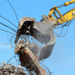 Demolition crane — Stock Photo