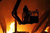 Dużego pożaru — Zdjęcie stockowe