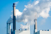 Pipe factory smoke emission — Stock Photo