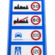 Dutch speedlimit sign - Stock Photo