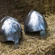 Stock Photo: Knight medieval helmets