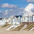 Beach houses Zandvoort (Holland) - Stock Photo